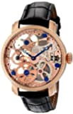 Akribos XXIV Men's AKR418RG Bravura Mechanical Skeleton Rose Gold-Tone Watch