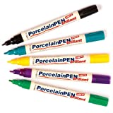 Brilliant Porcelain Paint Pens (Pack C) - Pack of 5 - Hobby Line 16412