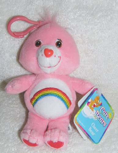Care Bears Plush Cheer Bear Clip On Doll front-1040834