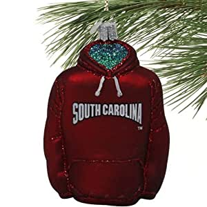 NCAA South Carolina Gamecocks Glass Hoodie Ornament
