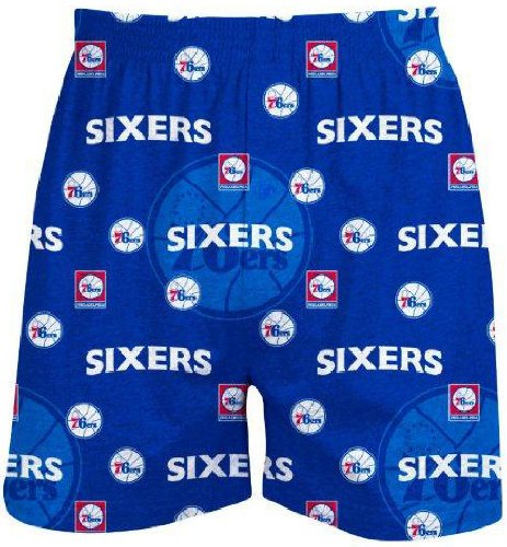 Philadelphia 76ers Mens Blue NBA Keynote Boxer Shorts by
