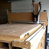 4' x 8' (4-foot x 8-foot) CNC machine - Heavy Duty -Version 4X - Kit with Interface Board, Control Cables for Motors, Spindle and Inverter. (GreenBull) (With Laser, Spindle and Inverter) (Tamaño: 4' x 8')