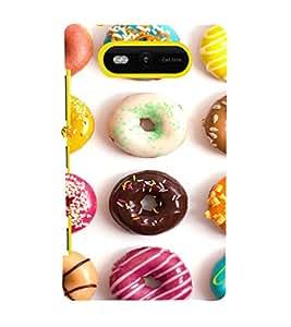 EPICCASE doughnut Mobile Back Case Cover For Nokia Lumia 820 (Designer Case)