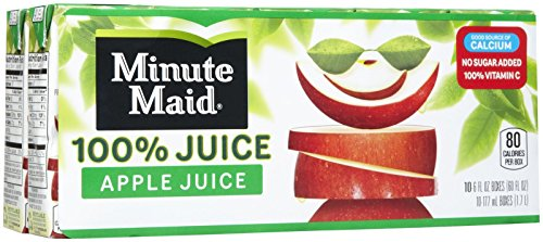 Minute Maid 100% Apple Juice Cartons - 6 oz - 10 ct (Minute Maid Juices compare prices)