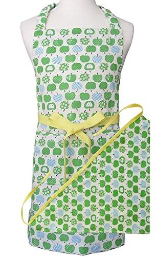 グリーンアップル 子供用エプロン・三角巾セット (LL)