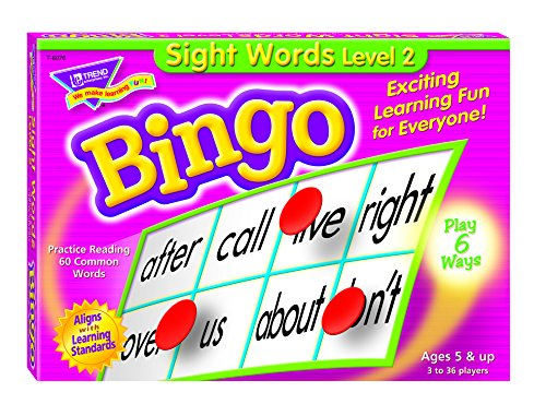 Sight Words Level 2 Bingo Game - 1