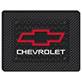 Chevy Chevrolet Red Bowtie 1pc Black Rubber Universal Car Truck Utility Floor Mat