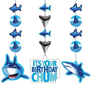 Creative Converting Creative Converting Shark Splash Hanging Decorations