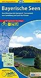 ADFC-Regionalkarte Bayerische Seen mit Tagestouren-Vorschlägen, 1:75.000, reiß- und wetterfest, GPS-Tracks Download: Von München bis Garmisch/Karwendel, von Landsberg am Lech bis Füssen