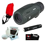 Vortex Optics S825 Solo 8x 25mm Monocular + Keychain LED Flashlight + Micro Fiber Cleaning Cloth + Cleaning and Care Kit + Floating Foam Strap Red