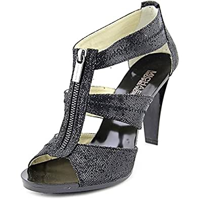 Michael Michael Kors Berkley T Strap Women US 5 Black Sandals