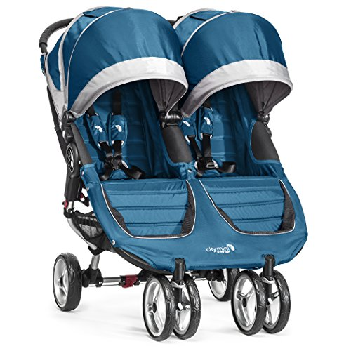 Baby Jogger City Mini Double Stroller, Teal/Gray front-902910