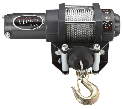 Viper Max 3000lb UTV Winch & Custom Mount for Kawasaki Mule 600/610 with Steel Cable