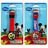 2pk Disney Mickey Clubhouse Digital LCD Watch For Kids