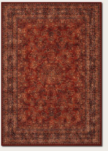 Couristan 1726/3200 Old World Classics Antique Kashan Area Rugs, 9-Feet 10-Inch By 13-Feet 9-Inch, Burgundy front-593523