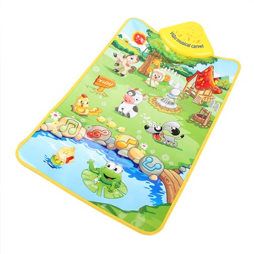 Generic Multicolor Animal Farm Musical Music Touch Play Carpet Mat Blanket Kid Baby Toy front-300625