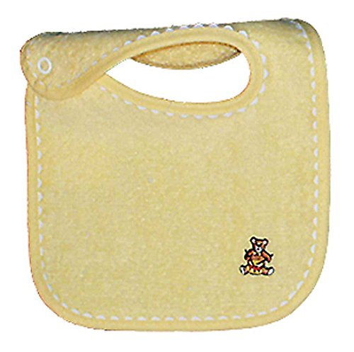 Raindrops Unisex Appliqued Bib, Yellow