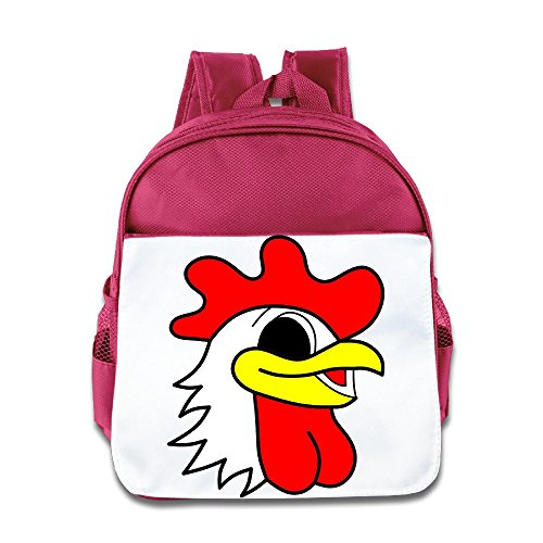 Yesher Custom Cartoon Chicken Head Backpack Bookbag Rucksack Daypack For Kids Boys Girls Pink (Chicken Egg Bag)