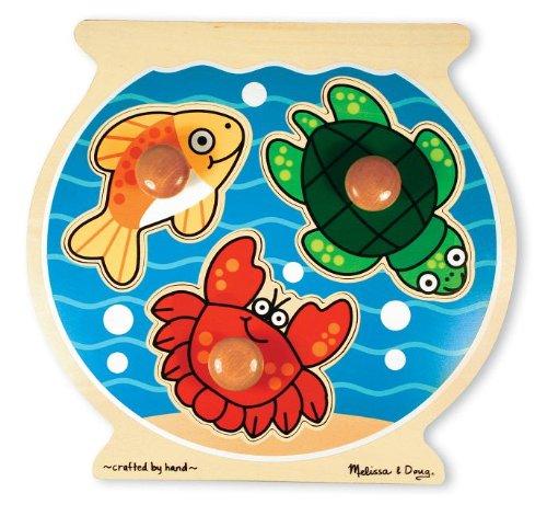 Melissa & Doug Deluxe Fish Bowl Jumbo Knob Puzzle