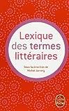 Lexique des termes littéraires...
