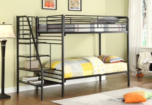 Black Metal Bunk Beds 2715 front