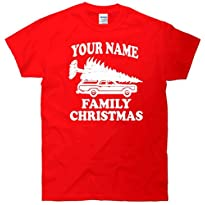 Your Name Family Christmas T-Shirt