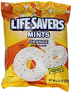 LifeSavers Orange Mints Hard Candy, 6.25-Ounce Bags (Pack of 12)