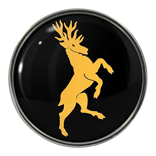 Rampant Spilla in metallo a forma di cervo