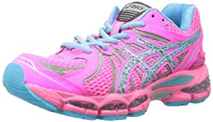 ASICS Women's Gel-Nimbus 15 Running Shoe,Hot Pink/Lightning/Blue,6.5 M US