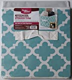 Better Homes and Gardens Collapsible Fabric Storage Cube - Turquoise Trellis