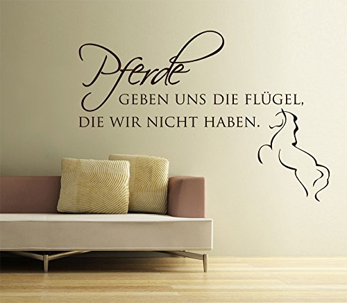 graz design 720240 57 080 wandtattoo wandspruch pferde geben uns. Black Bedroom Furniture Sets. Home Design Ideas