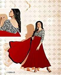 Designer Red Georgette kali salwar suit