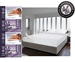 lavender scented memory foam super king mattress topper. Black Bedroom Furniture Sets. Home Design Ideas