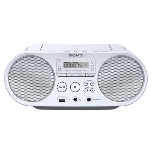 Sony-ZSP-S50WCED-CDUSB-Radiorekorder-AMFM-wei