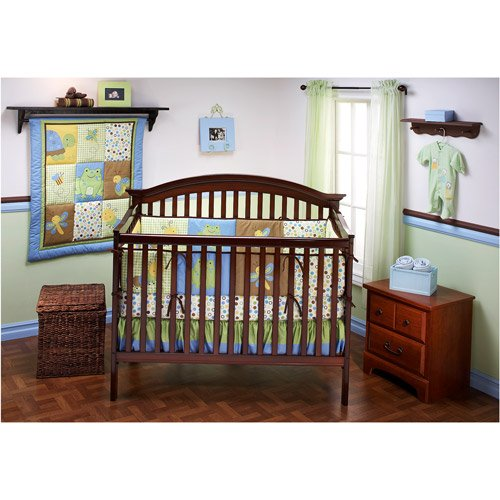 Naturally Baby by NoJo - Wiggles 4-Piece Organic Cotton Crib Bedding Set