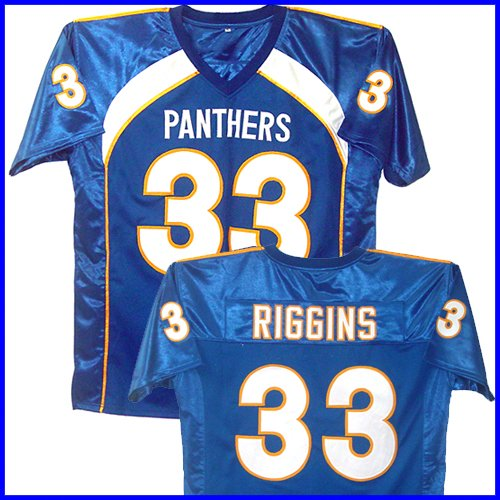 Friday Night Lights Season III Riggins #33 Blue Jersey (Men's XL)