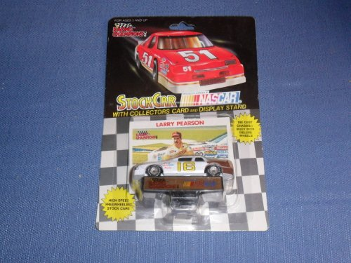 1991 NASCAR Racing Champions . . . Larry Pearson #16 1/64 Diecast . . . Includes Collectors Card and Display Stand - 1