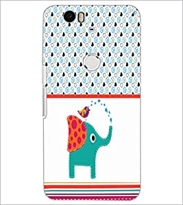 PrintDhaba Funny image D-5963 Back Case Cover for HUAWEI NEXUS 6P (Multi-Coloured)