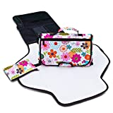 Diaper Changing Pad - Portable & Compact Diaper Bag Organizer for Travel - Changing Station with Stylish Clutch, Waterproof Change Mat & Spacious Pockets - Baby Diaper Changer Kit - FREE Hand Purse