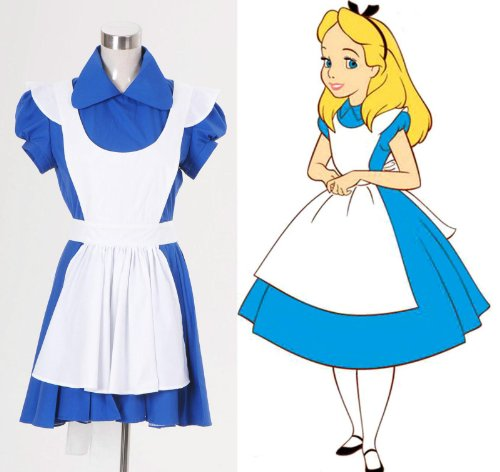 Fashion-Mart Alice in Wonderland Alice Blue Maid Dress Costume
