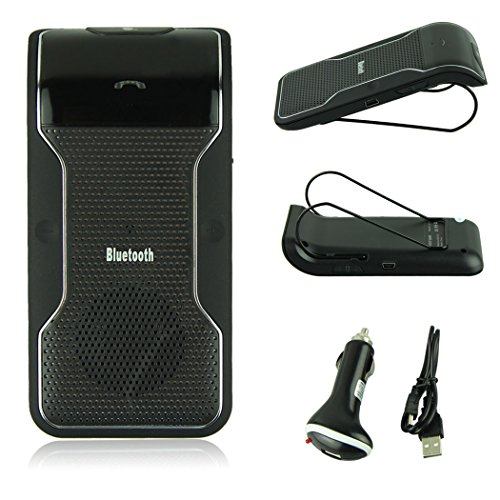 Voberry Hot Sale Wireless Bluetooth Handsfree In-Car Speakerphone Bluetooth Car Kit With Car Charger Bluetooth