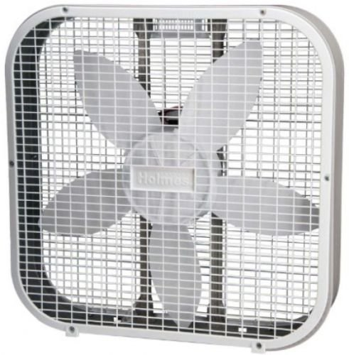 Holmes HBF2010A-WM Box Fan, Metal, 20-Inch, White,Three speed settings (120mm Case Fan Slim compare prices)