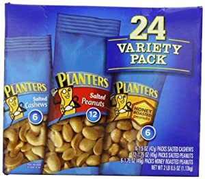 Planters-Nuts On the Go Snack Packs, 24-Count Variety Packs, 40.5oz Boxes
