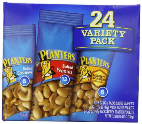 Planters -Nuts On the Go Snack Packs, 24-Count Variety Packs, 40.5oz Boxes