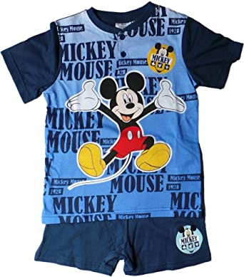 disney micky maus schlafanzug t shirt und shorty mickey ist dein. Black Bedroom Furniture Sets. Home Design Ideas