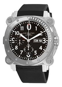 Hamilton Men's H78616333 Khaki Navy BelowZero Black Chronograph Dial Watch