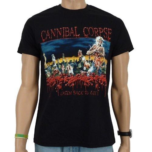 Maglietta a maniche corte, motivo: Cannibal Corpse-Eaten Back To Life, colore: Nero