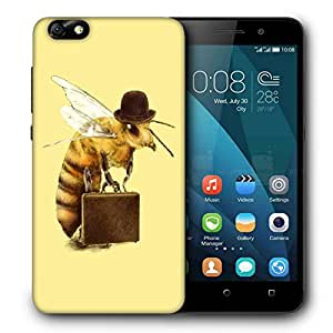 Snoogg Bee On Tour Designer Protective Back Case Cover For HUAWEI 4X