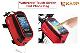 KARP Outdoor Waterproof Cycling Mountain Bicycle Bike Frame Panniers And Front Tube Bicycle Touchscreen Phone Case Reflective Bag Fit For Universal Cell Phone 5.5