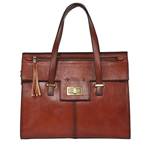 Banuce Vintage Leather Turn-lock Satchel Tote Handbag Shoulder Bag (Leather Italian Handbags compare prices)